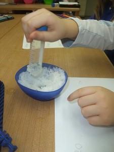 Schnee-Experimente